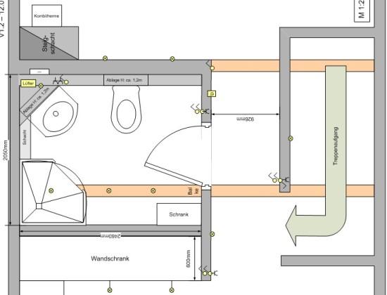 Planung eines Dachausbaus mit kleinem Bad